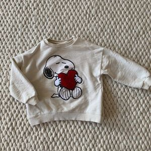 Zara toddler Snoopy sweatshirt
